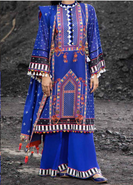 Riwayat-e-Pashk by Gul Ahmed Embroidered Lawn Unstitched 3 Piece Suit RP20GA 981 - Summer Collection