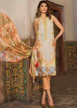 Rungrez Embroidered Chiffon Unstitched 3 Piece Suit RNG17E2 02