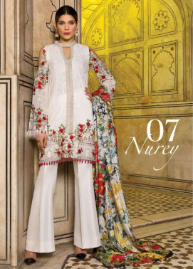 Rungrez Embroidered Chiffon Unstitched 3 Piece Suit RNG17E2 07