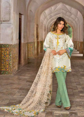 Rungrez Embroidered Chiffon Unstitched 3 Piece Suit RNG17E2 09