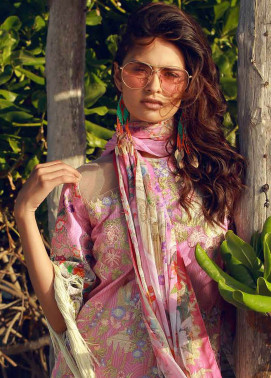 Rungrez Embroidered Lawn Unstitched 3 Piece Suit RNG18F 03 - Festive Collection