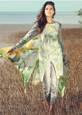 Rungrez Embroidered Lawn Unstitched 3 Piece Suit RNG18F 04 - Festive Collection