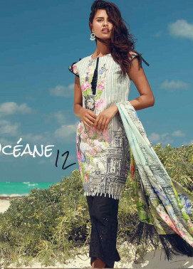 Rungrez Embroidered Lawn Unstitched 3 Piece Suit RNG18F 12 - Festive Collection