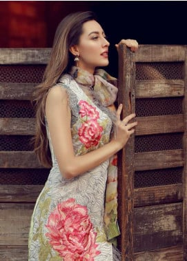 Rungrez Embroidered Lawn Unstitched 3 Piece Suit RNG18L 16 - Spring / Summer Collection