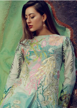 Rungrez Embroidered Lawn Unstitched 3 Piece Suit RNG18L 17 - Spring / Summer Collection