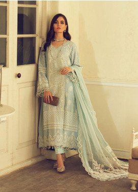 Rouche Embroidered Chikankari Unstitched 3 Piece Suit RCH20CK 01 Snowflake - Luxury Collection