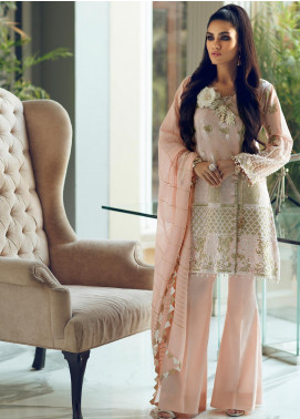 Rouche Embroidered Chikankari Unstitched 3 Piece Suit RCH19CK 02 Pearl Shine - Luxury Collection