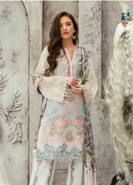 Rouche Embroidered Lawn Unstitched 3 Piece Suit RCH19L 3 ORIENTAL SHINE - Festive Collection