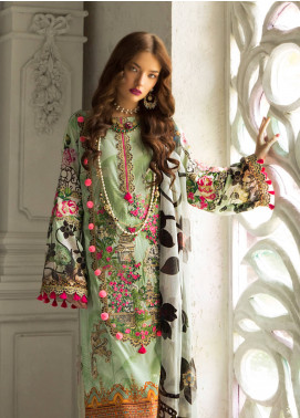 Rouche Embroidered Lawn Unstitched 3 Piece Suit RCH19L 6 ELEGANT GLOW - Festive Collection