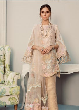 Rouche Embroidered Missouri Unstitched 3 Piece Suit RCH20LX 04 Marigold Bloom - Luxury Collection