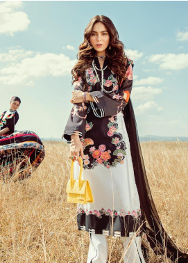 Rouche Embroidered Lawn Unstitched 3 Piece Suit RCH20S Tropical Twist 02 - Luxury Collection