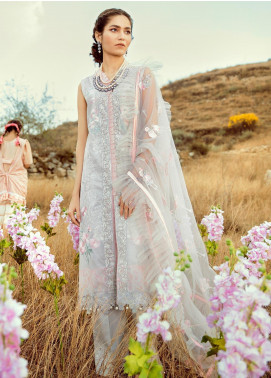 Rouche Embroidered Lawn Unstitched 3 Piece Suit RCH20S Oriental Spring 08 - Luxury Collection