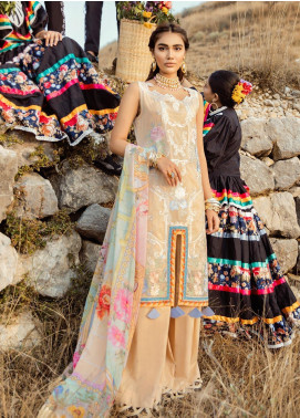 Rouche Embroidered Lawn Unstitched 3 Piece Suit RCH20S Faux Naturale 09 - Luxury Collection