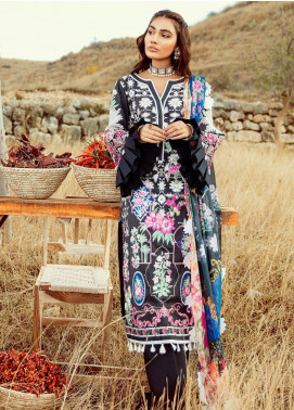 Rouche Embroidered Lawn Unstitched 3 Piece Suit RCH20S Exotic Blooms 11 - Luxury Collection