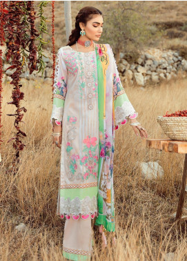 Rouche Embroidered Lawn Unstitched 3 Piece Suit RCH20S Morning Glory 012 - Luxury Collection