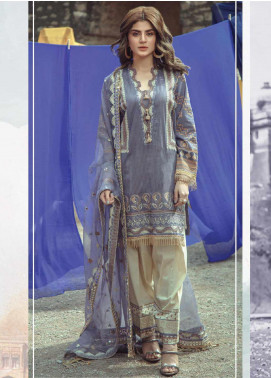 Roxanne by Serene Premium Embroidered Lawn Unstitched 3 Piece Suit SP20R 4 - Luxury Collection