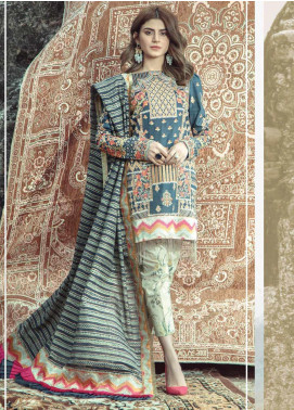 Roxanne by Serene Premium Embroidered Lawn Unstitched 3 Piece Suit SP20R 5 - Luxury Collection