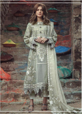 Roxanne by Serene Premium Embroidered Lawn Unstitched 3 Piece Suit SP20R 6 - Luxury Collection
