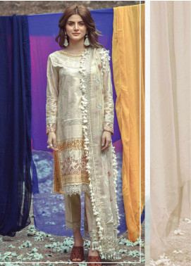 Roxanne by Serene Premium Embroidered Lawn Unstitched 3 Piece Suit SP20R 9 - Luxury Collection