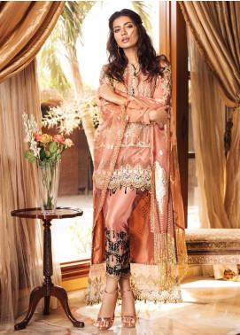 Rozina Munib Embroidered Chiffon Unstitched 3 Piece Suit RZM19C 03 - Festive Collection