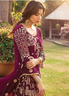 Rozina Munib Embroidered Chiffon Unstitched 3 Piece Suit RZM19C 06 - Festive Collection