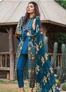 Rozina Munib Embroidered Chiffon Unstitched 3 Piece Suit RZM19C 08 - Festive Collection