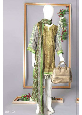 Rangoli Embroidered Lawn Unstitched 3 Piece Suit RRS17L 10A