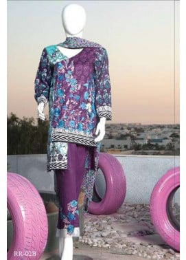 Rangoli Embroidered Lawn Unstitched 3 Piece Suit RRS17L 2B