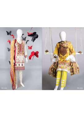 Rangoli Embroidered Lawn Unstitched 3 Piece Suit RRS17L 3B