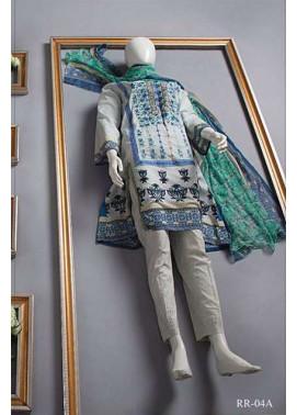 Rangoli Embroidered Lawn Unstitched 3 Piece Suit RRS17L 4A