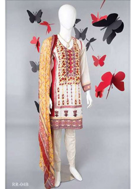 Rangoli Embroidered Lawn Unstitched 3 Piece Suit RRS17L 4B