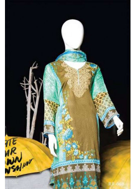 Rangoli Embroidered Lawn Unstitched 3 Piece Suit RRS17L 6B