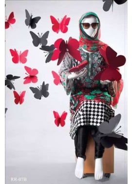 Rangoli Embroidered Lawn Unstitched 3 Piece Suit RRS17L 7B