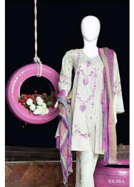 Rangoli Embroidered Lawn Unstitched 3 Piece Suit RRS17L 8A