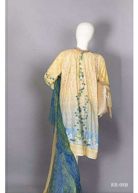 Rangoli Embroidered Lawn Unstitched 3 Piece Suit RRS17L 8B