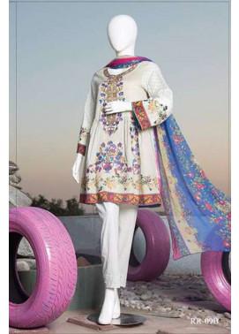 Rangoli Embroidered Lawn Unstitched 3 Piece Suit RRS17L 9A