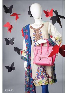 Rangoli Embroidered Lawn Unstitched 3 Piece Suit RRS17L 9B