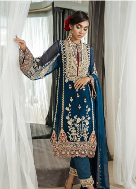 Rouge by Saira Rizwan Embroidered Chiffon Unstitched 3 Piece Suit RSR19C 03 Broderie - Wedding Collection