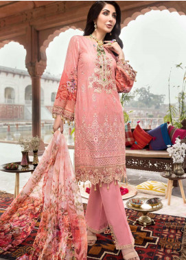 Rubab by Mohagni Embroidered Lawn Unstitched 3 Piece Suit RMO20L 2 - Luxury Collection