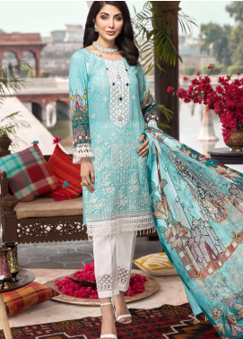 Rubab by Mohagni Embroidered Lawn Unstitched 3 Piece Suit RMO20L 3 - Luxury Collection