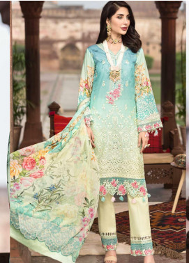Rubab by Mohagni Embroidered Lawn Unstitched 3 Piece Suit RMO20L 4 - Luxury Collection