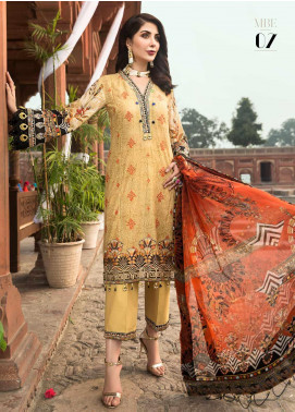 Rubab by Mohagni Embroidered Lawn Unstitched 3 Piece Suit RMO20L 7 - Luxury Collection