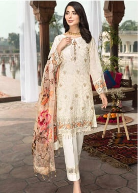 Rubab by Mohagni Embroidered Lawn Unstitched 3 Piece Suit RMO20L 8 - Luxury Collection