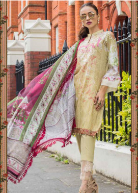 Al Zohaib Embroidered Lawn Unstitched 3 Piece Suit AZ20RL 7B - Spring / Summer Collection