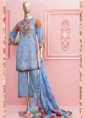 Rung by Al Zohaib Embroidered Lawn Unstitched 3 Piece Suit AZ20-RL2 12 - Spring / Summer Collection