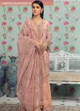 Rungrez Embroidered Chiffon Unstitched 3 Piece Suit RNG19C 5 RONGIR - Luxury Collection