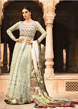 Rungrez Embroidered Chiffon Unstitched Lenghas RNG18CP 4 Shalimar - Luxury Collection