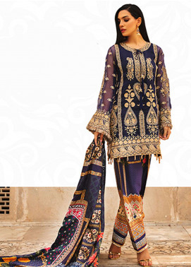 Rungrez Embroidered Chiffon Unstitched 3 Piece Suit RNG18CP 7 Nielgunn - Luxury Collection