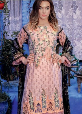 Rungrez Embroidered Lawn Unstitched 3 Piece Suit RNG19L 05 - Spring / Summer Collection