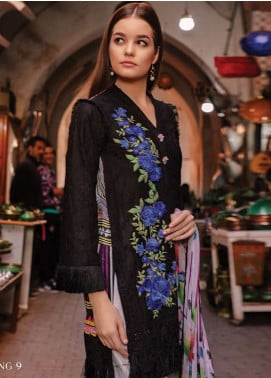 Rungrez Embroidered Lawn Unstitched 3 Piece Suit RNG19L 09 - Spring / Summer Collection